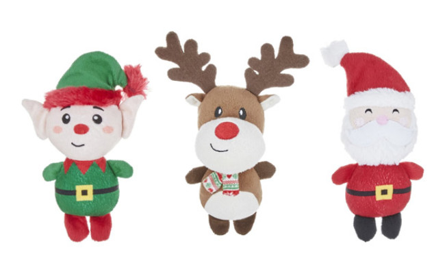 Frisco Holiday Santa's Helpers Plush Squeaky Dog Toy