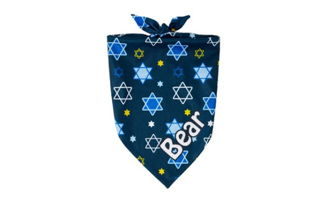Frisco Personalized Hanukkah Dog Bandana