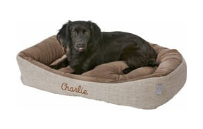 Frisco Personalized Rectangular Bolster Dog Bed
