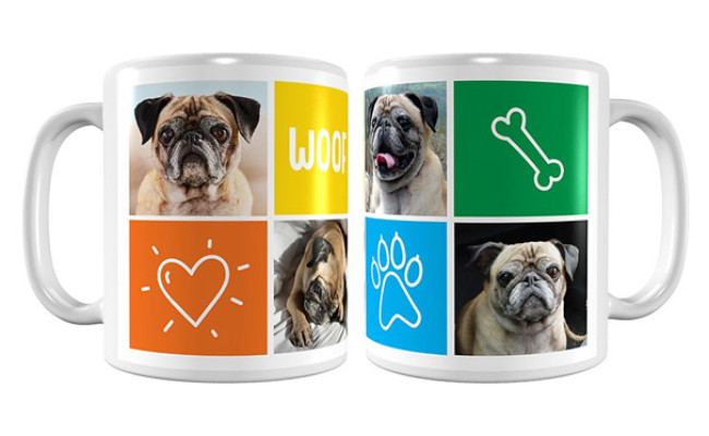 Frisco Personalized Woof White Coffee Mug