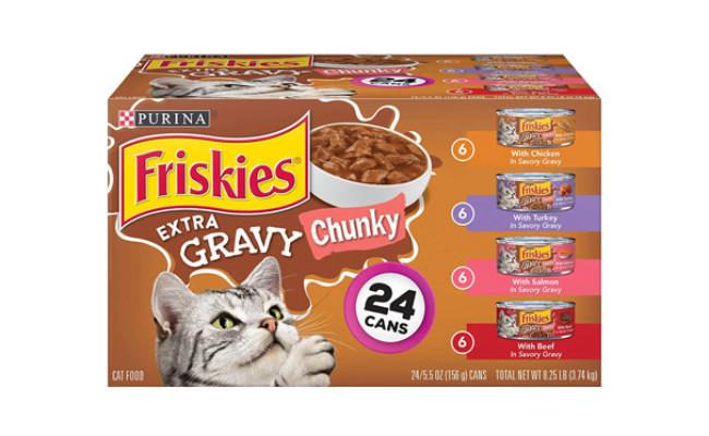 Friskies Extra Gravy Chunky Wet Cat Food