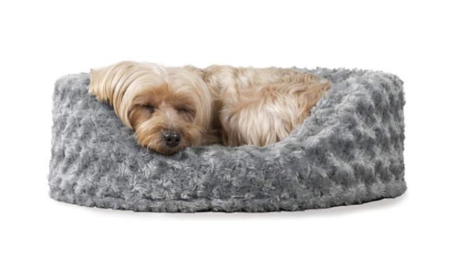 Furhaven Round Oval Cuddler Dog Bed
