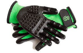 HandsOn Bathing Grooming Shedding Gloves