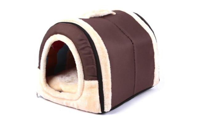 Haresle Portable Pet House Soft Dog Bed