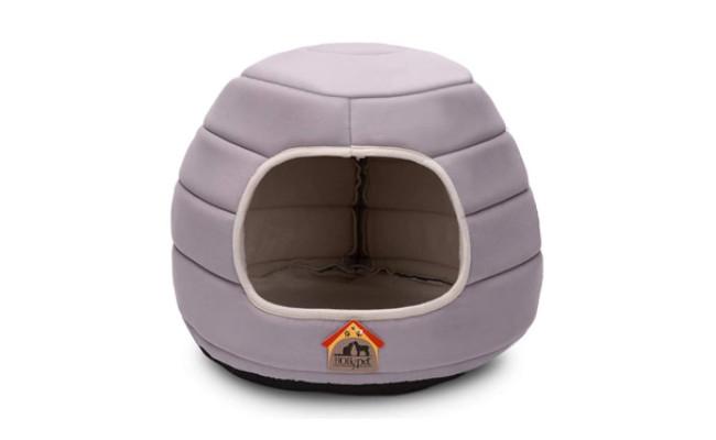 Hollypet Self-Warming Cave Shape Dog Bed