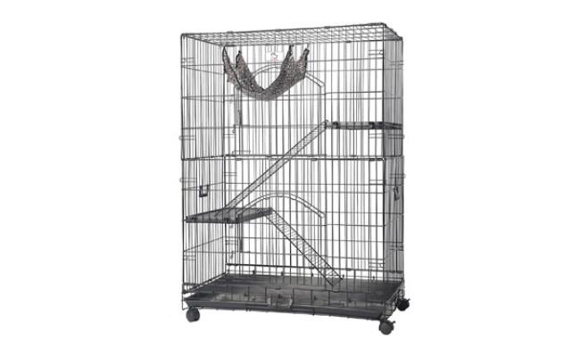 Homey Pet Black Wire Chinchilla Cage