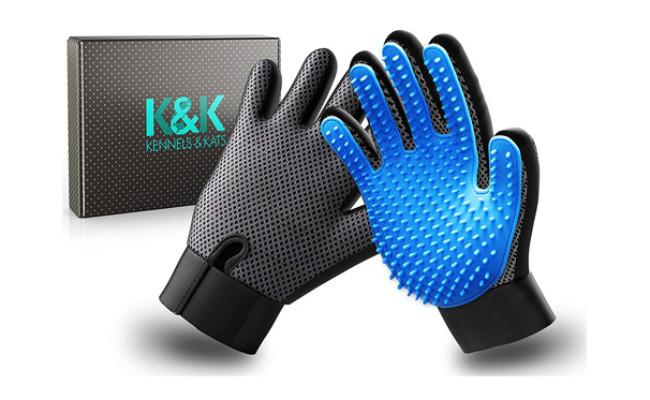 KENNELS & KATS New Version Pet Grooming Gloves