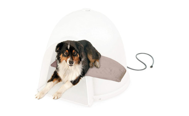 K&H PET PRODUCTS Lectro-Soft Igloo Style Dog Bed
