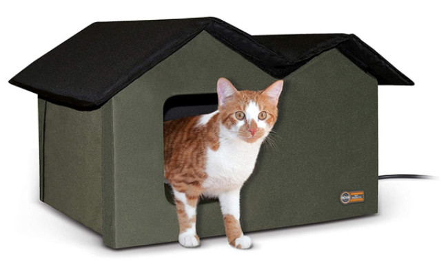 K&H PET PRODUCTS Outdoor Multi-Kitty House Cat