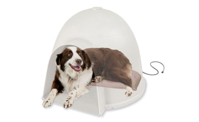 K&H Pet Products Igloo Style Heated Dog Bed
