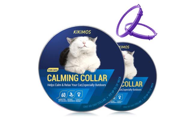 KIKIMOS Adjustable Calming Collar for Cats