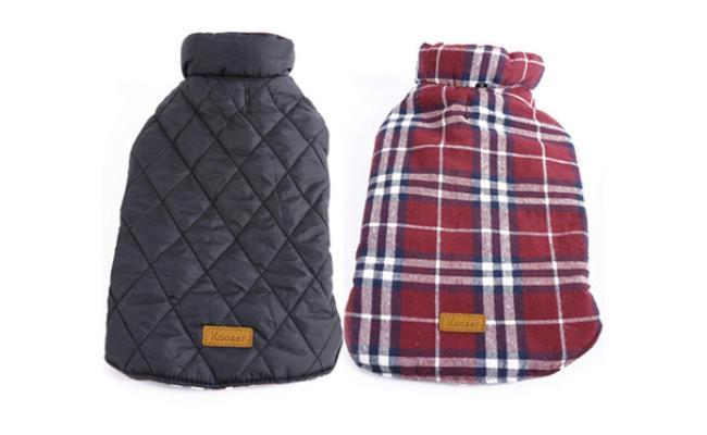 4. Kuoser Waterproof Reversible Dog Jacket