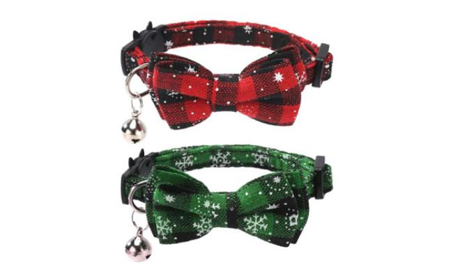 Lamphyface 2 Pack-Set Christmas Cat Collar