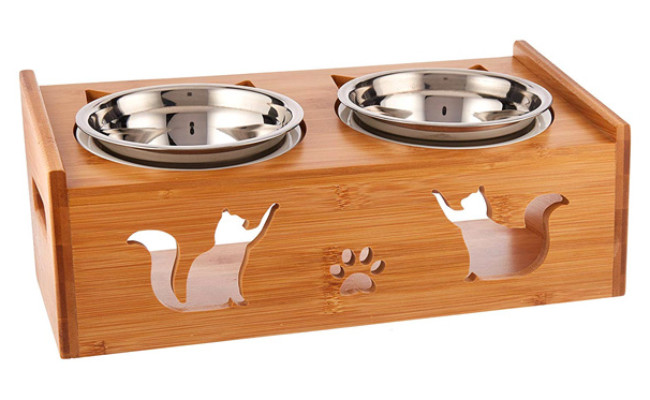 Lepet Raised Cat Food Bowls