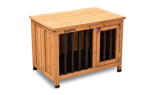 Lovupet Wooden Dog Kennel Cage