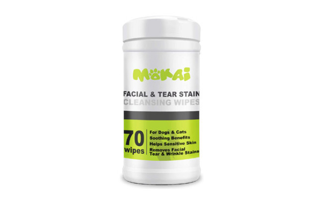 MOKAI Facial & Tear Stain Cleansing Wipes