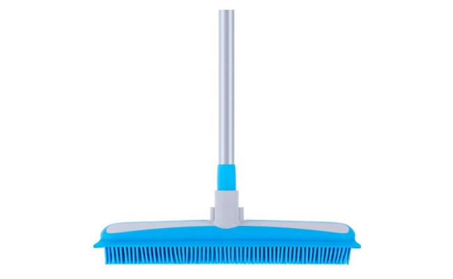 MR.SIGA Soft Bristle Rubber Broom