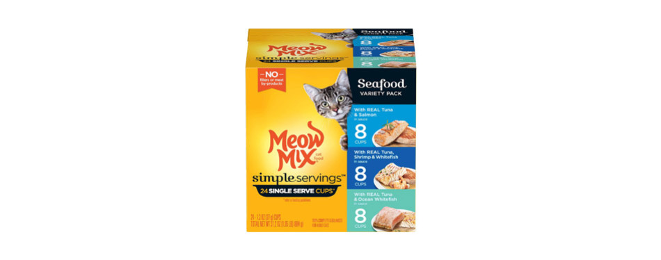 Meow Mix Simple Servings Wet Cat Food
