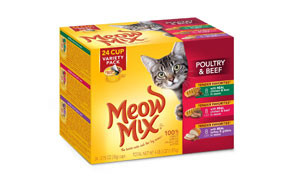 Meow Mix Wet Cat Food Poultry & Beef Variety Pack