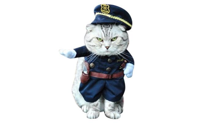 Nacoco Pet Policeman Cat Costume