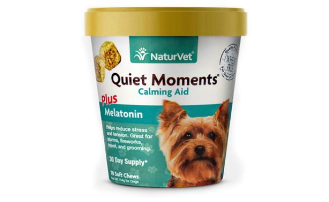 NaturVet Quiet Moments Calming Aid Plus Melatonin