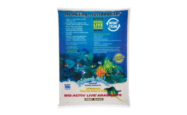 Nature's Ocean Bio-Activ Live Aragonite Sand for Aquarium