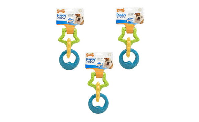 Nylabone Puppies Triple Teething Ring Chew Toy