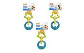 Nylabone Puppy Triple Teething Ring Chew Toy