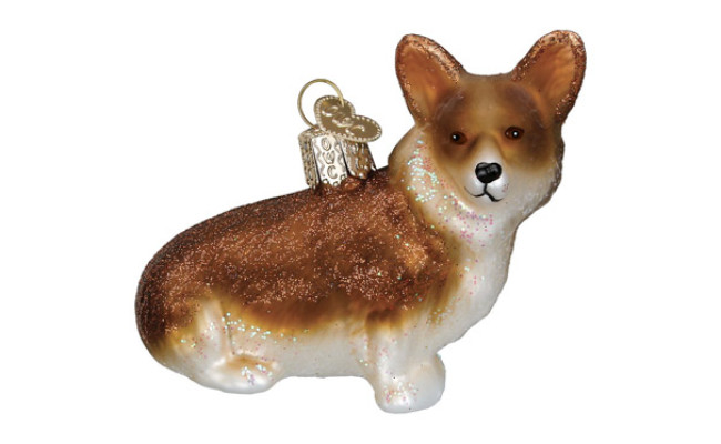 Old World Christmas Pembroke Welsh Corgi Glass Tree