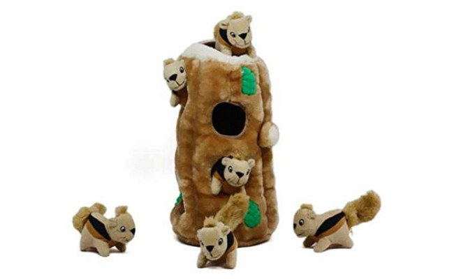 Outward Hound Plush Hide and Seek Interactive Puzzle Toy