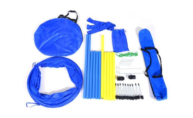 PawHut 4PC Obstacle Dog Agility Training Course Kit