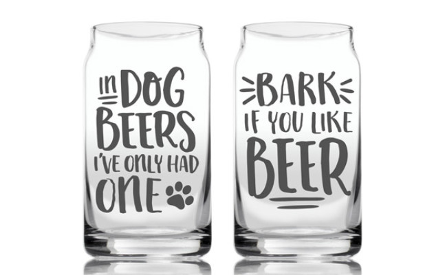 Pearhead Dog Lover's Beer Glass Set