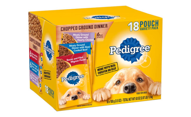 Pedigree Chopped Ground Dinner Adult Wet Dog Food