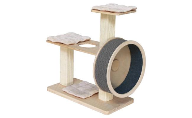 Penn-Plax Spin Kitty Cat Exerciser Wheel & Tree