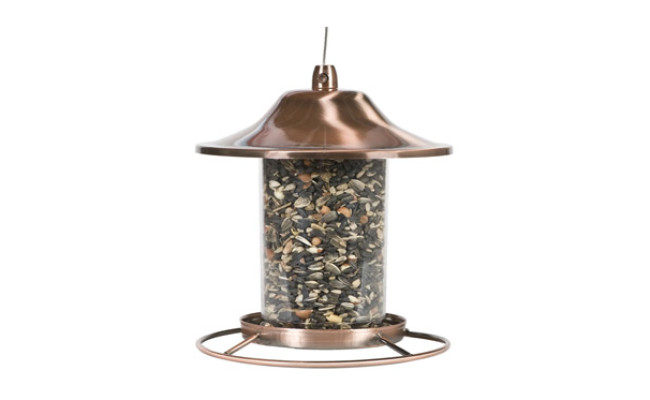 Perky Pet Copper Panorama Bird Feeder