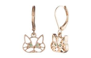 Pet Friends Cutout Cat Drop Earrings