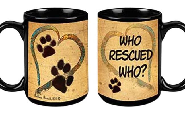 Pet Gifts USA Pawmarks on My Heart Coffee Mug