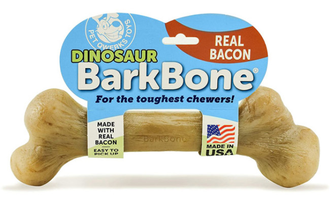 Pet Qwerks Dinosaur BarkBone Dog Chew Toy