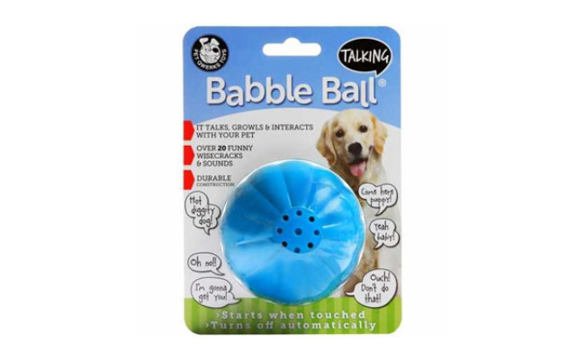 Pet Qwerks Talking Babble Dog Ball