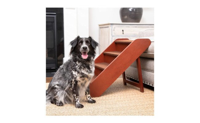 PetSafe CozyUp Folding Wood Pet Stairs for Dogs