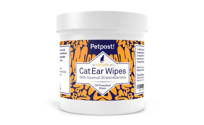 Petpost Cat Ear Cleaner Wipes
