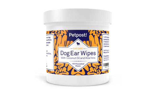 Petpost Ear Cleaner Wipes for Dogs