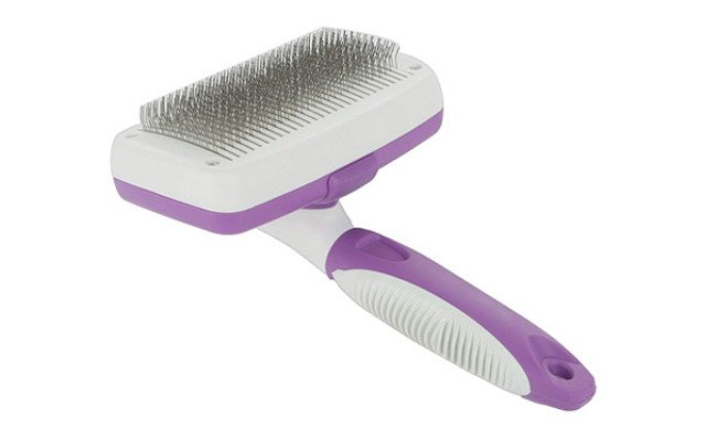 Poodle Pet Self Cleaning Slicker Brush for Rabbits