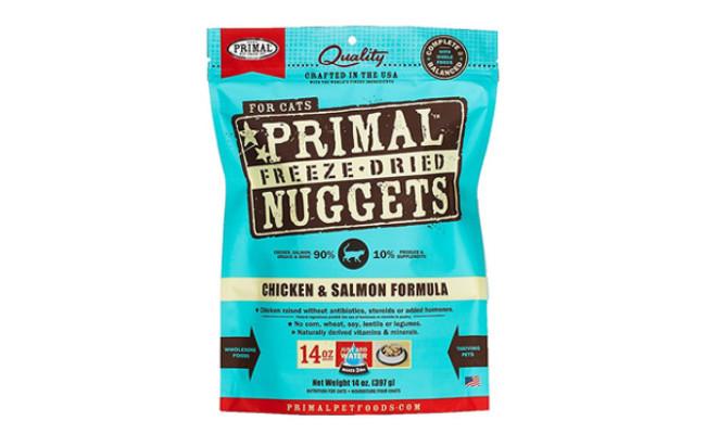 Primal Chicken & Salmon Formula Nuggets Grain-Free Raw Freeze-Dried Cat Food