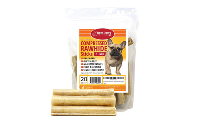 Raw Paws Compressed Rawhide Sticks for Dogs