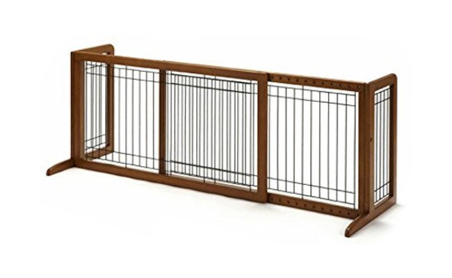 Richell Wood Freestanding Dog Gate