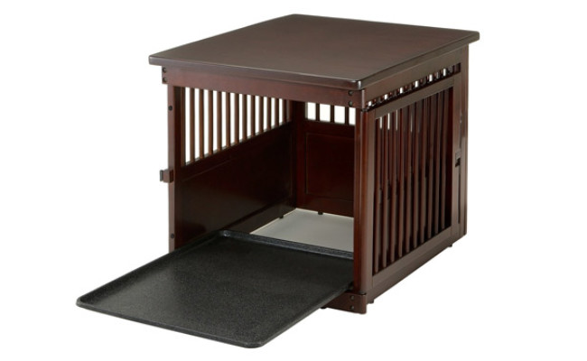 Richell Wooden Dog Crate Table