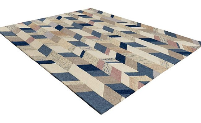Rivet Modern Geometric Wool Area Rug