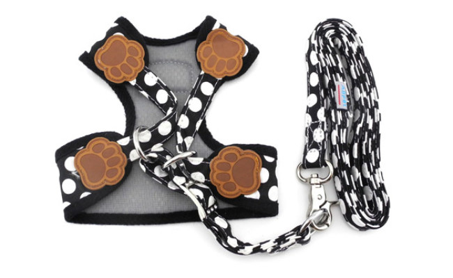 SMALLLEE_Lucky_Store Soft Mesh Nylon Dog Harness