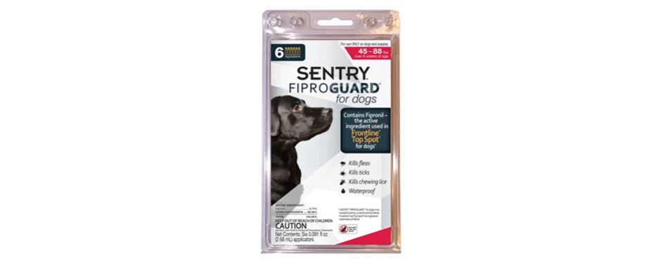 Sentry FiproGuard Flea & Tick Squeeze-On for Dogs